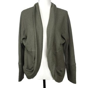 Olive + Oak Round Cardigan In Olive Green XS